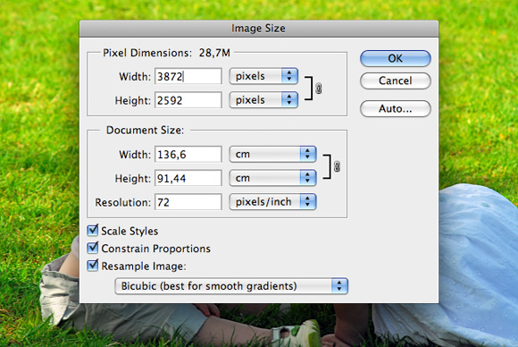 Inches to pixels: how to resize images without losing quality.