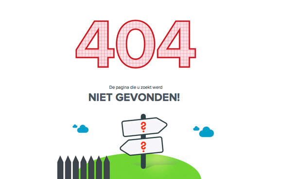 custom illustration and animation for the 404 page not found page