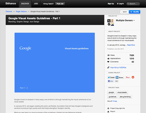 Google Visual Assets Guidelines