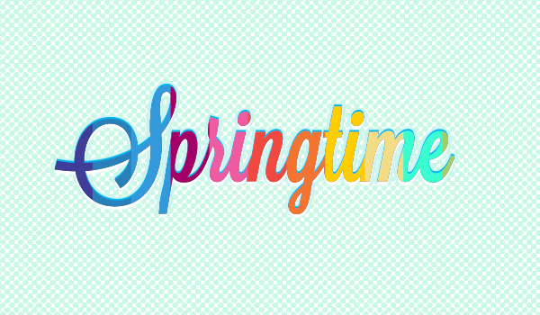 First Text Effect Springtime