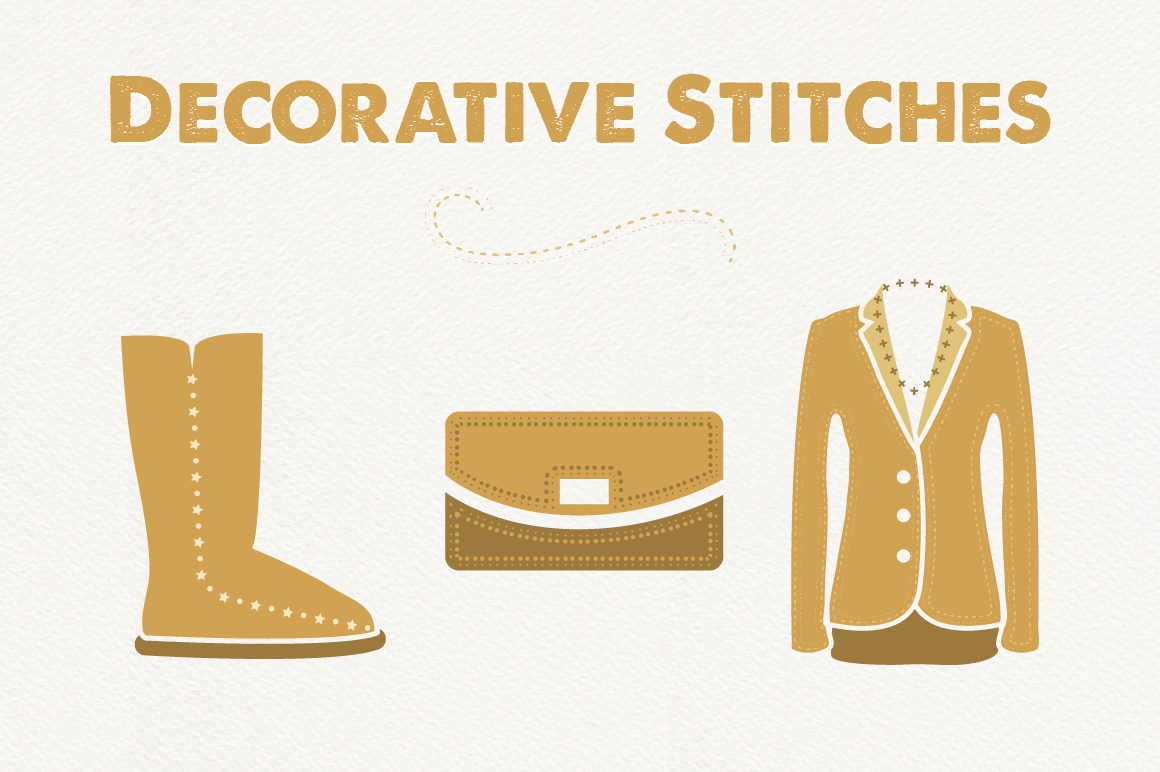 Decorative Stitch Brushes for Illustrator